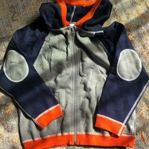Hanna Anderson boys zip up sweatshirt size 8